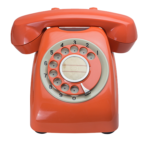 A image of a nice red vintage phone